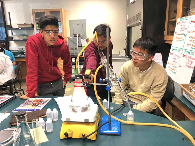 Engineering Innoivation students work on project