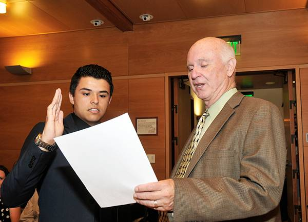 Case Sworn In as Mt. SAC Student Trustee