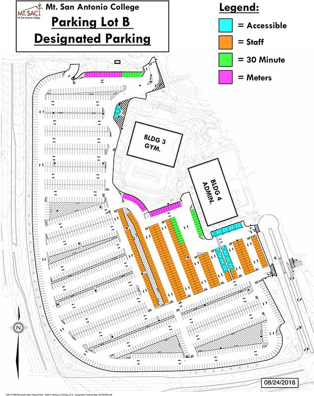 image of parking lot B map