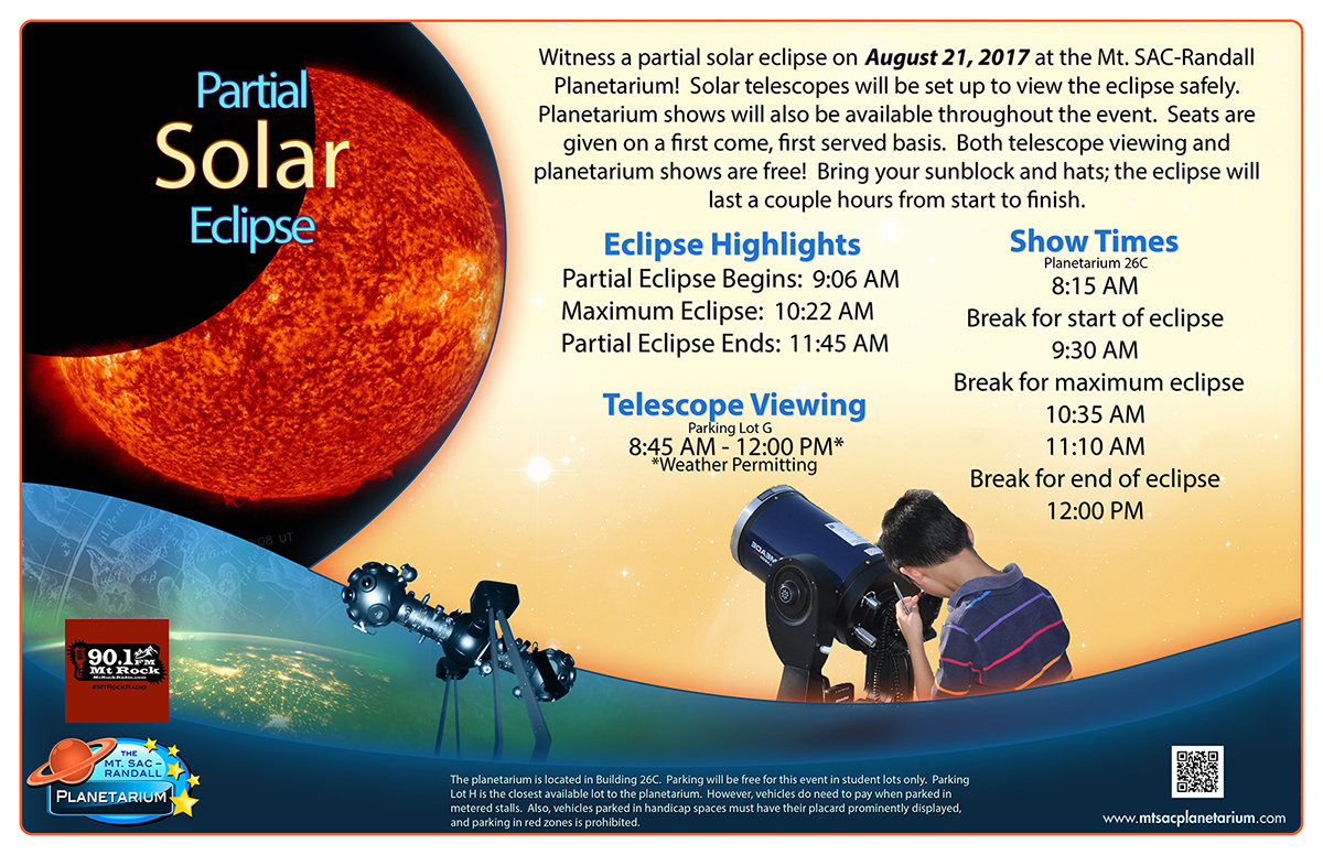 graphic of partial solar eclipse flyer