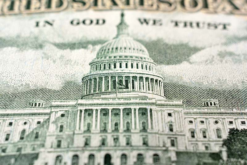 U.S. Capitol on $50 bill