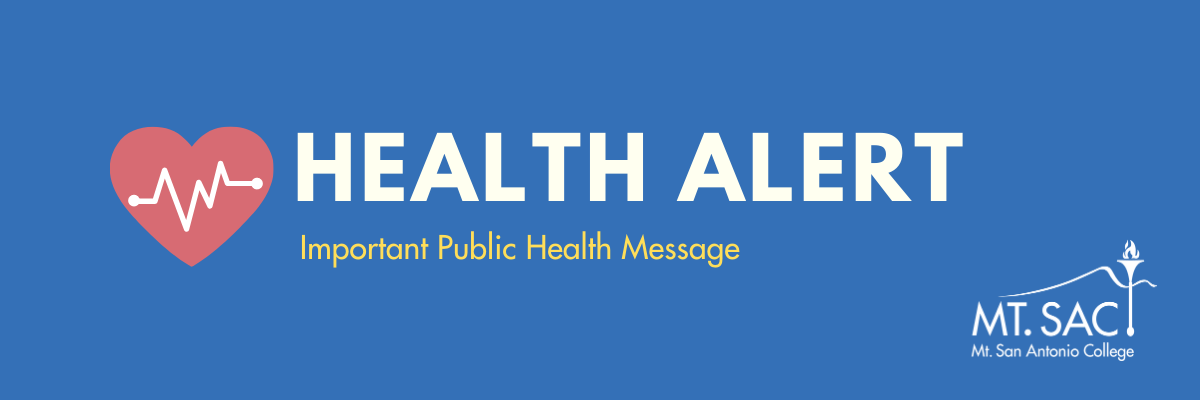 Health alert icon: Important message from Mt. SAC