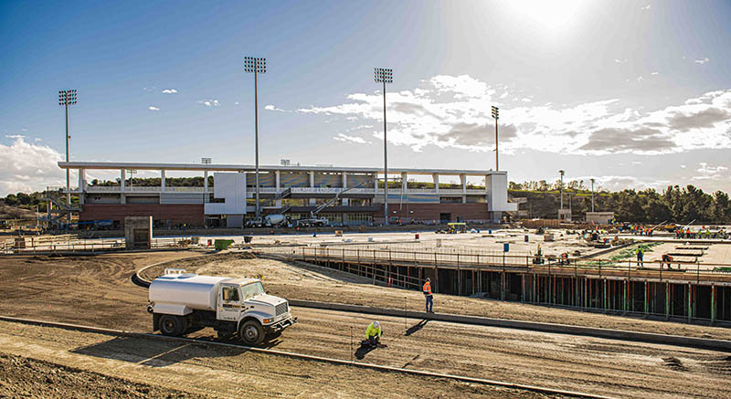More Construction of new Hilmer Lodge Stadium