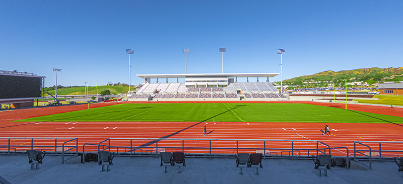 Wide angle view of the new Hilmer Lodge Stadium