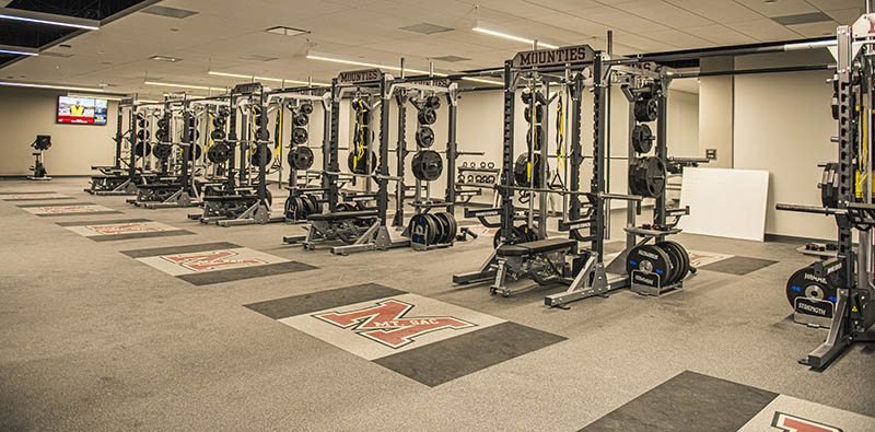 Weight room in the new stadium