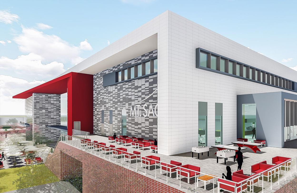 Rendering of new student center