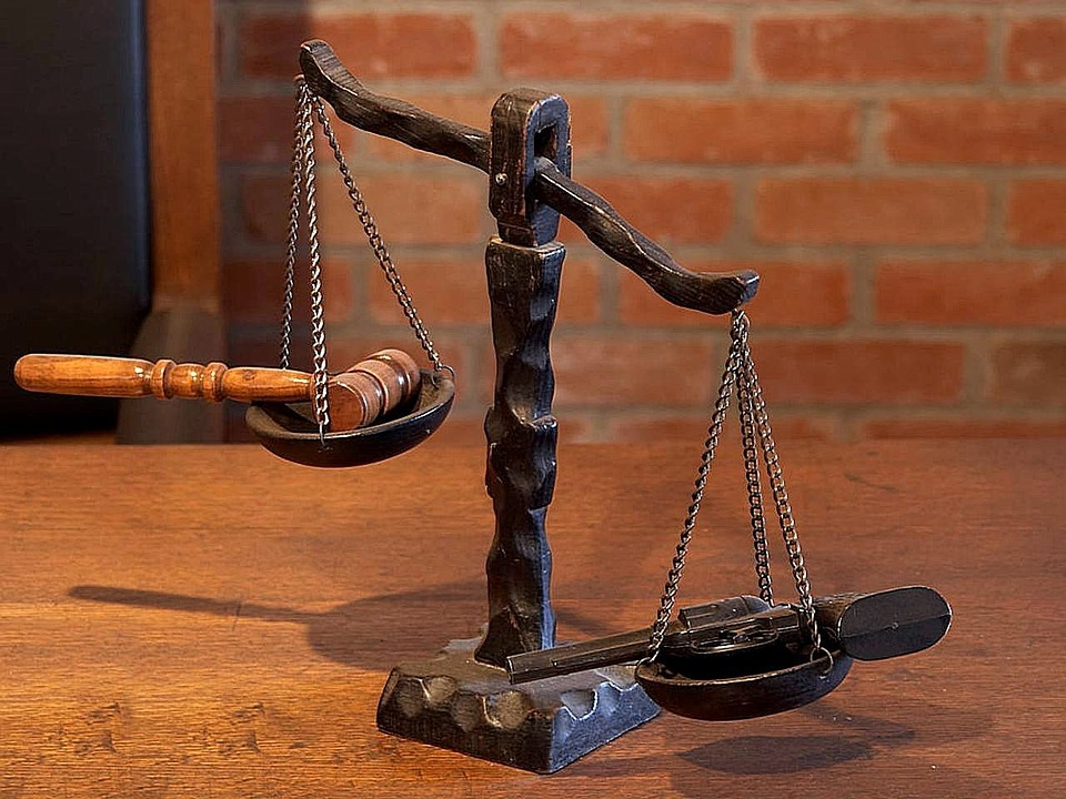 Balance scale of law and justice