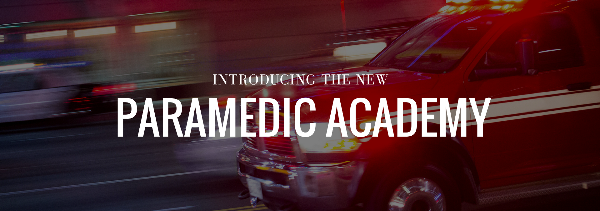 Graphic saying Introducing the New Paramedia Academy