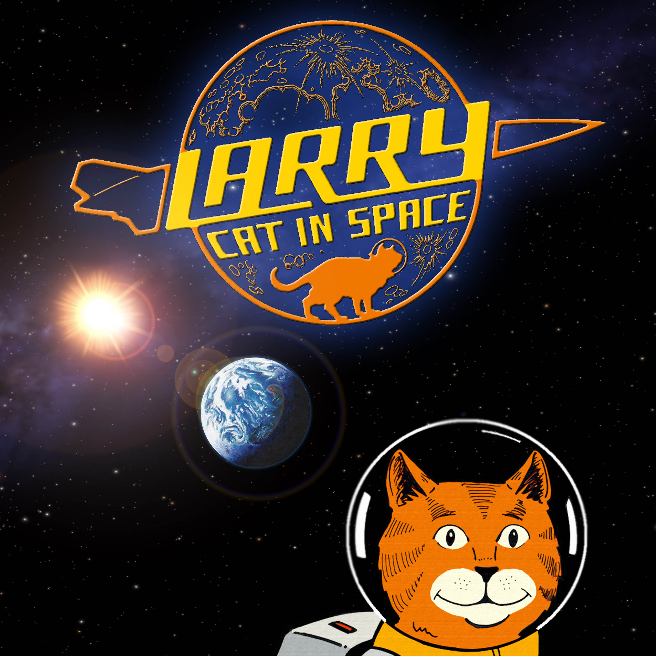 Larry Cat in Space Icon