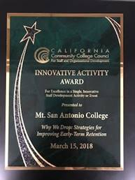 California Community College Council - Innovative Activity Award