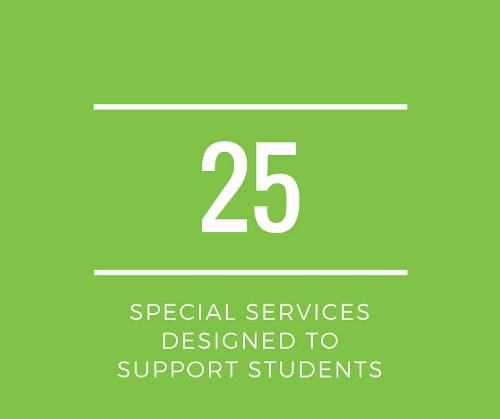 We have more than 25 programs designed to support students