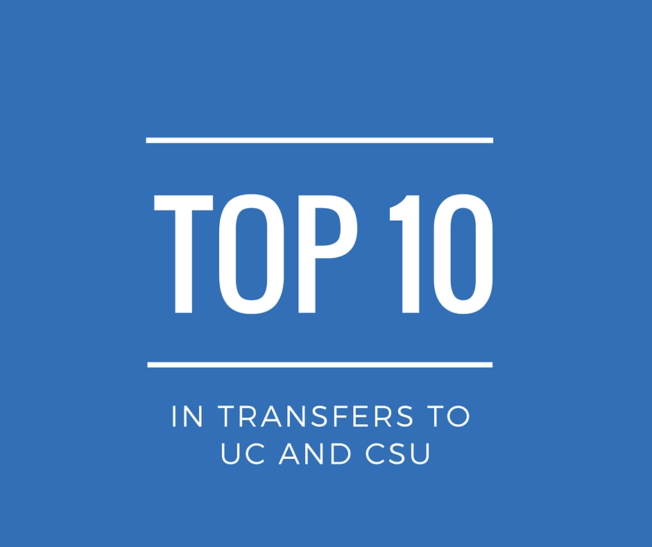 Top 10 in transfers to UC and CSU