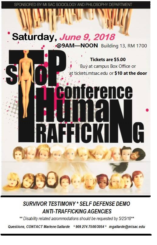 human trafficking conference flyer