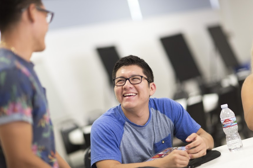 STEP students sharing a laugh
