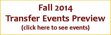Fall 2014 Transfer Events Preview